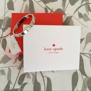 Kate Spade New York Silver tone Bangle Bracelet